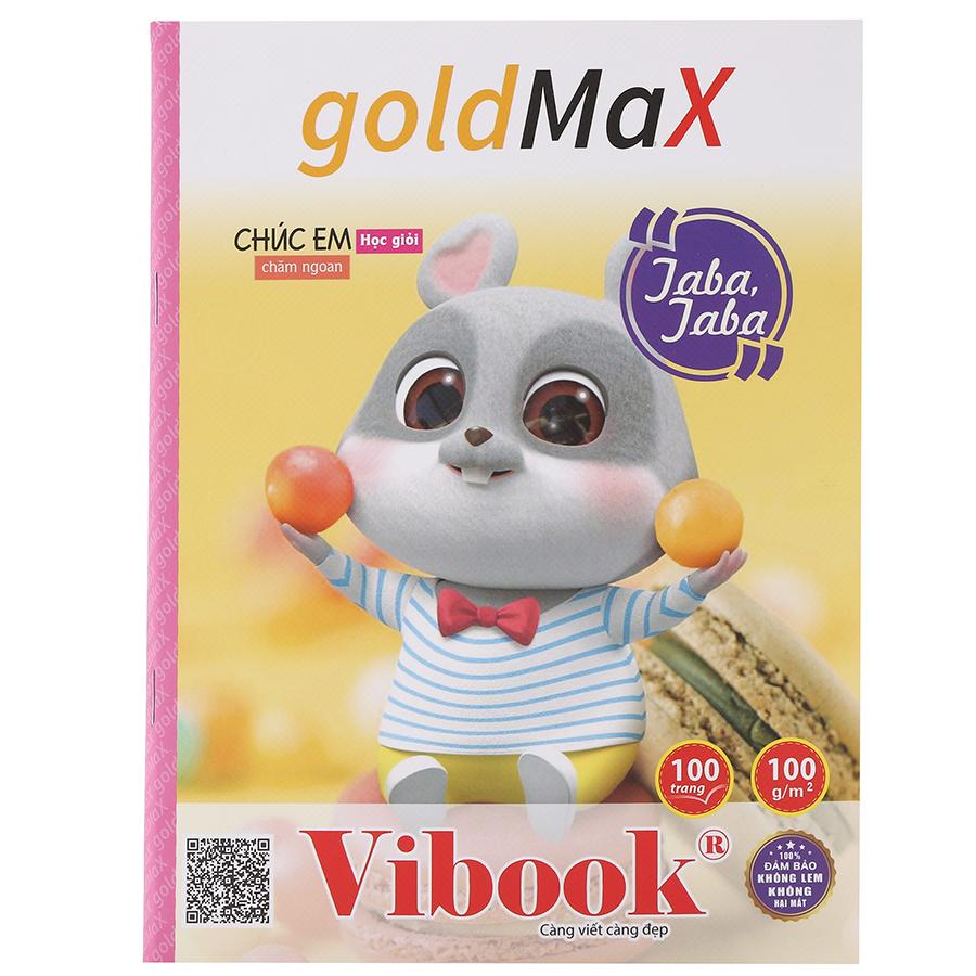 "Lốc 5 Tập ViBook ""GOLD MAX"" In Caro T100R-18 ( 100 Trang) - Mẫu Ngẫu Nhiên"