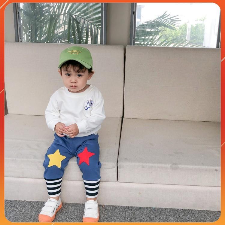 Quần thun thể thao ngôi sao hai màu dễ thương cho bé (2 - 8 tuổi)