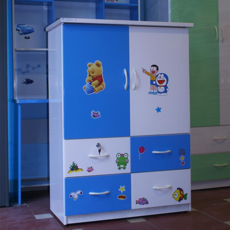 Tủ nhựa Đài Loan 2 cánh 4 ngăn T206 màu xanh dương