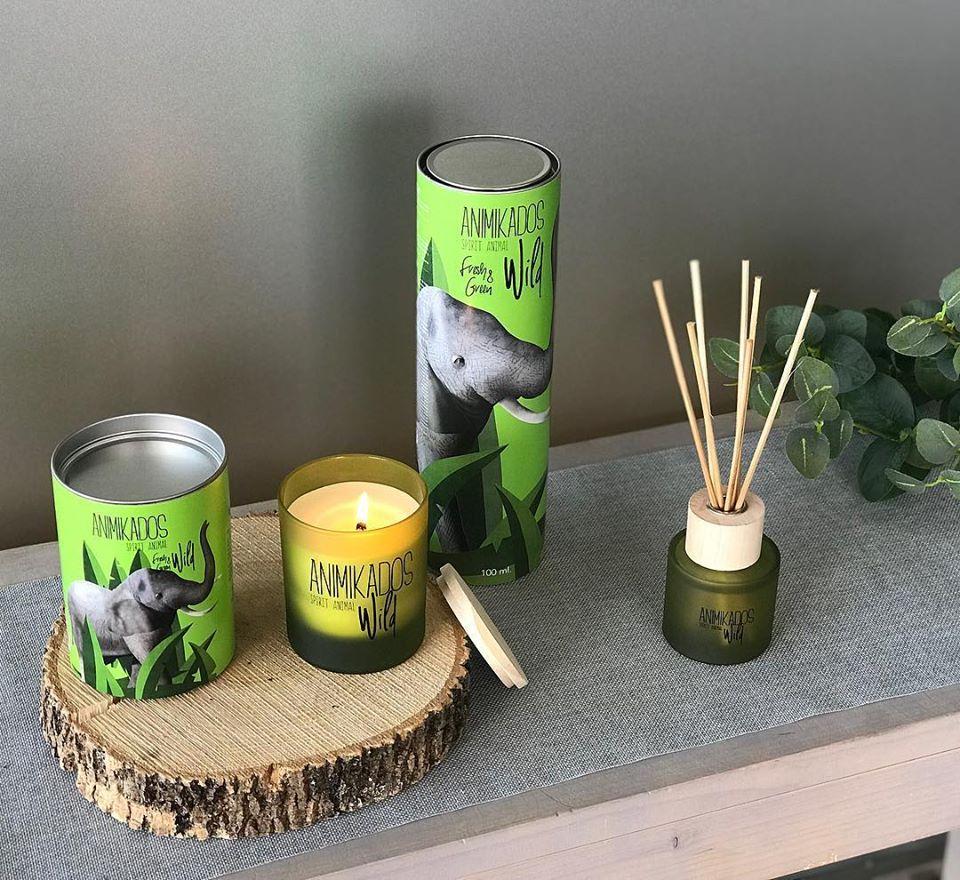 Nến thơm tinh dầu Ambient  Elephant mùi Fresh & Green