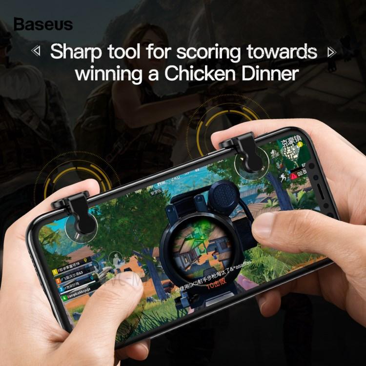 Bộ gamepad nút hỗ trợ chơi game PUBG Baseus Red-Hot cho điện thoại máy tính bảng (Màu ngẫu nhiên) - Hàng chính hãng