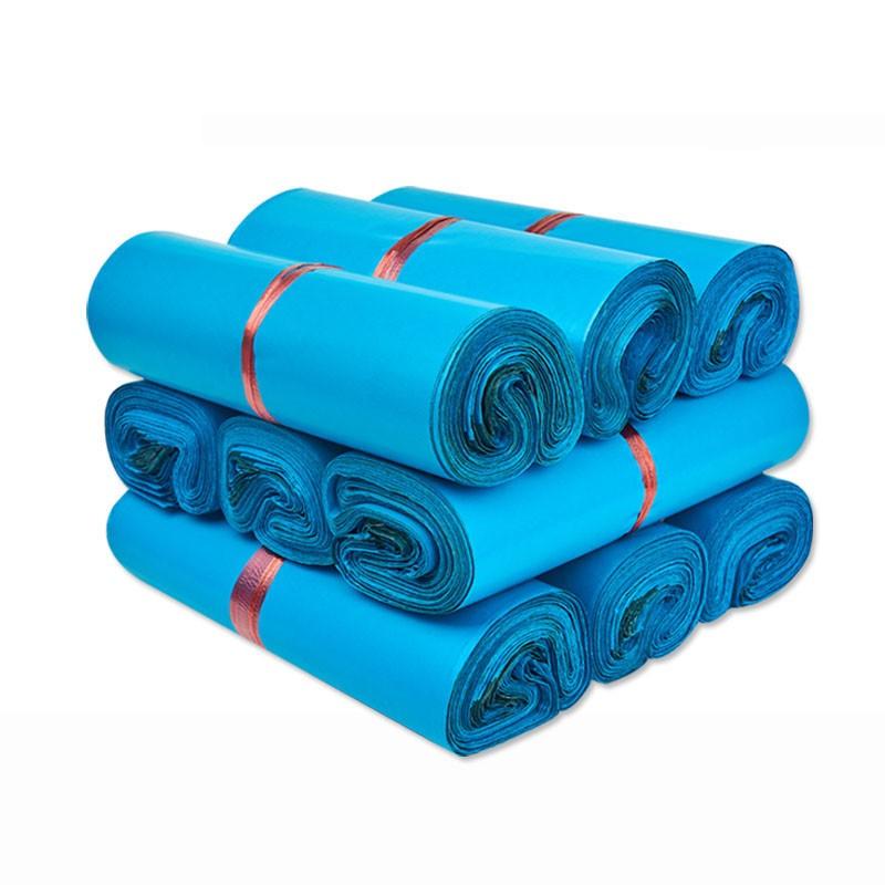 Combo 100 Túi Gói Hàng Niêm Phong Màu Xanh Blue cao cấp Size 25x35
