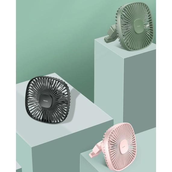 Quạt Mini Tích Điện Cầm Tay Hoặc Gắn Ghế Sau Ô Tô Natural Wind Magnetic Rear Seat Fan Dung Lượng 1000 mAh Hàng Chính Hãng Baseus