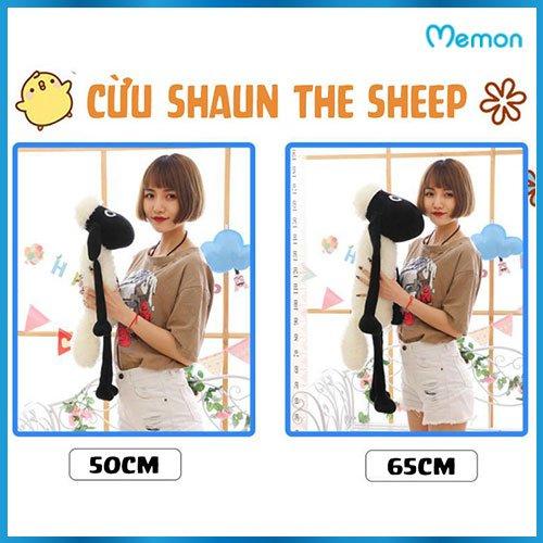 Gấu bông Cừu Shaun The Sheep cao cấp - Hàng chính hãng Memon - Đồ chơi thú nhồi bông Cừu Shaun The Sheep, Bông gòn PP 3D tinh khiết , đàn hồi đa chiều, bền đẹp, dễ sử dụng, an toàn cho bé