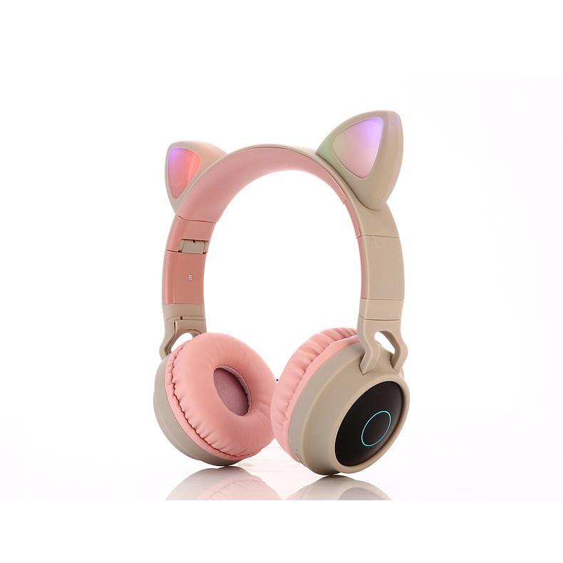 Tai Nghe Bluetooth Không Dây BT028C Phát Sáng, Có Khe Cắm Thẻ Nhớ, Cổng 3.5mm, Nghe Radio  - Hàng Nhập Khẩu