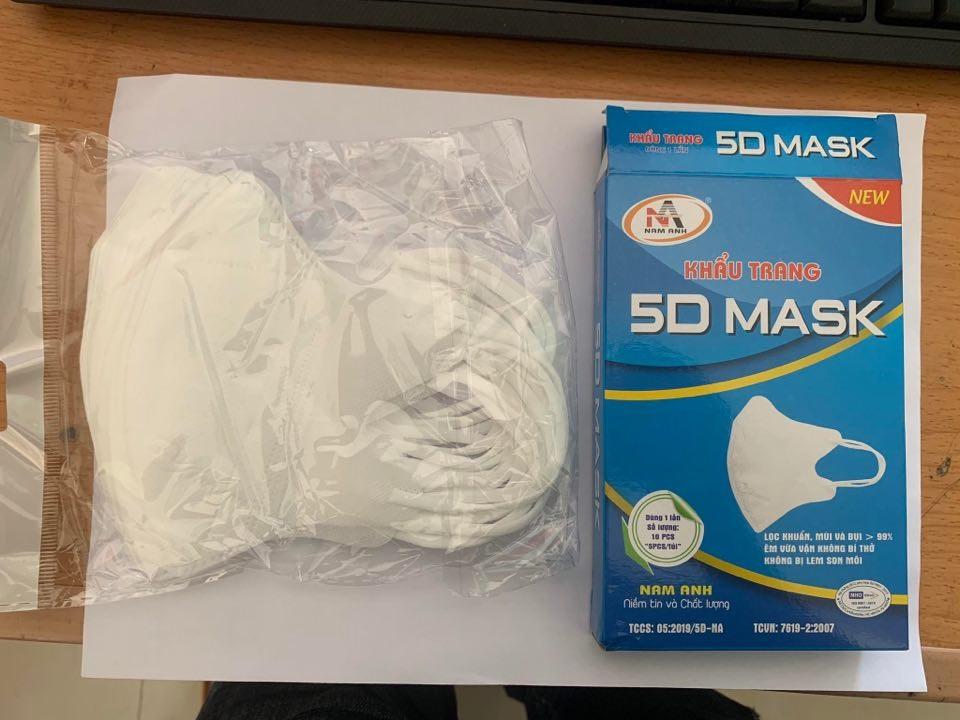 Khẩu Trang 5D mask Nam Anh Hộp 10 cái