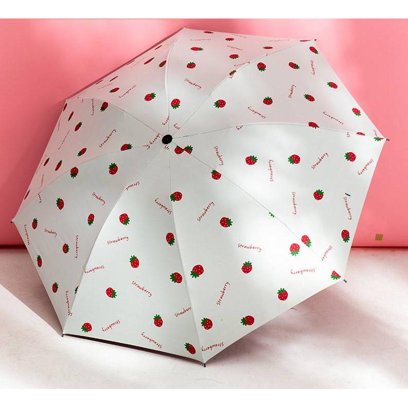 Ô dù gấp gọn cao cấp 8 nan vải dù chống thấm, chống tia UV nhỏ gọn