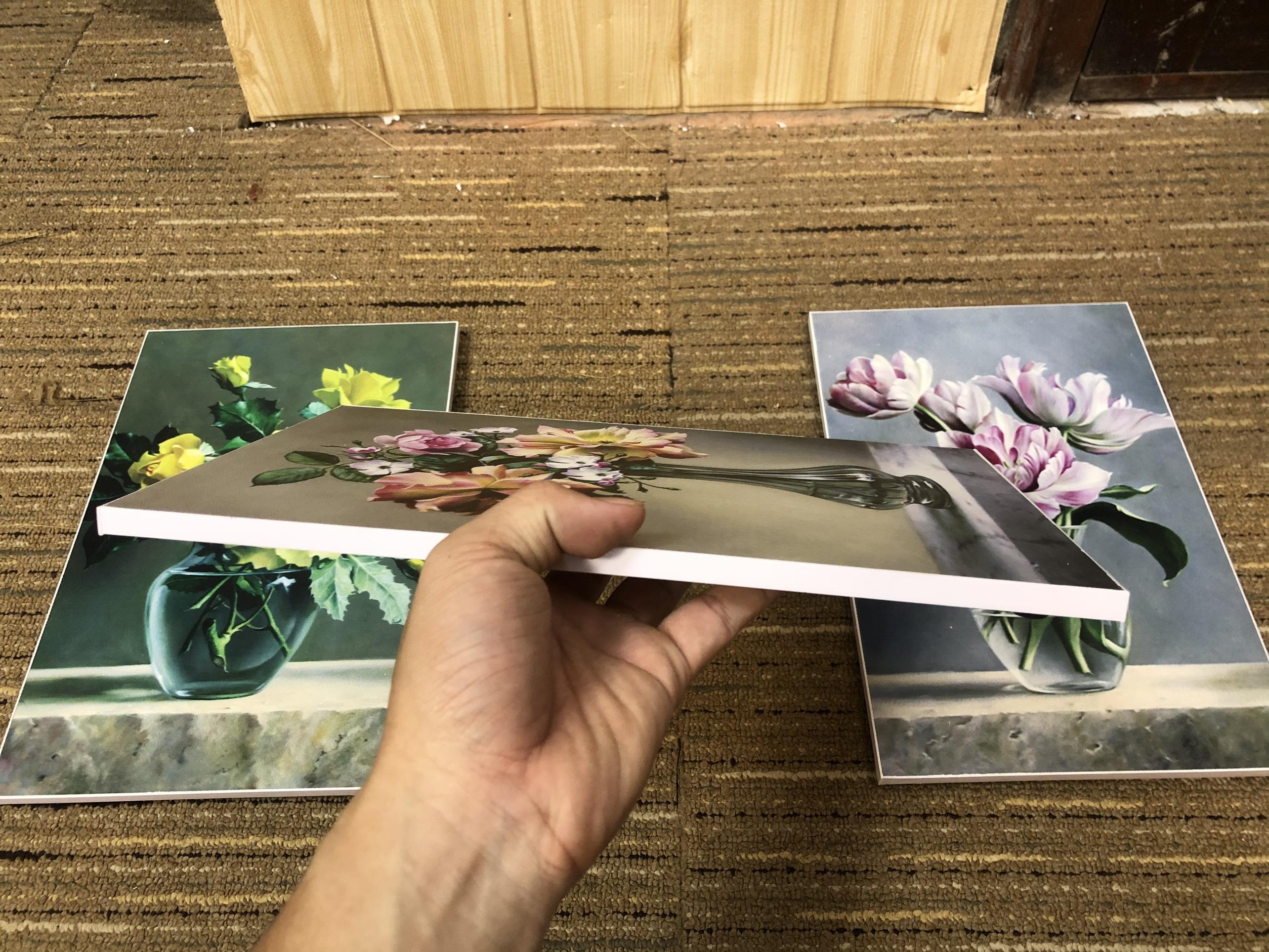 Tranh treo tường CAO CẤP 3 bức phong cách hiện đại MONSKY - Bắc Âu ND17A, In UV công nghệ Nhật Bản 3 lớp trực tiếp lên tấm FORMEX (Như tấm gỗ nguyên khối) kèm khung và đinh ghim móc treo, kích thước 20x30cm/bức