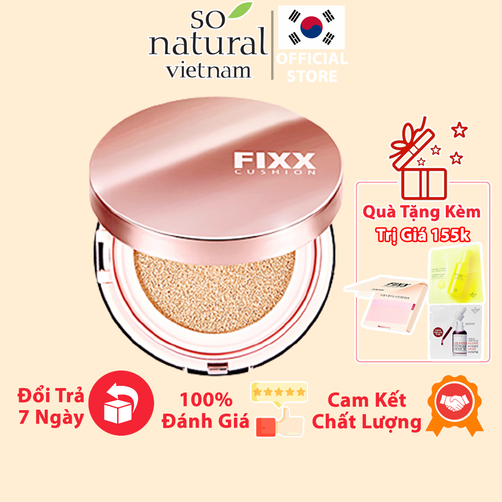 Phấn Nước Trang Điểm Lâu Trôi Glow Fixx Cushion SPF50+ / PA++++ So Natural Hàn Quốc