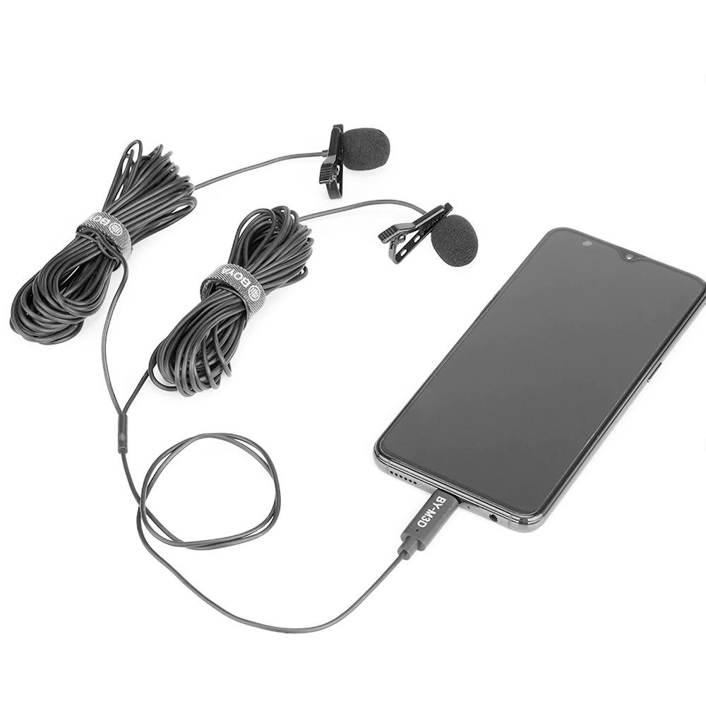 Cặp micro cài áo có dây thu âm kỹ thuật số cho điện thoại cổng Type-C Boya BY-M3D - Hàng chính hãng