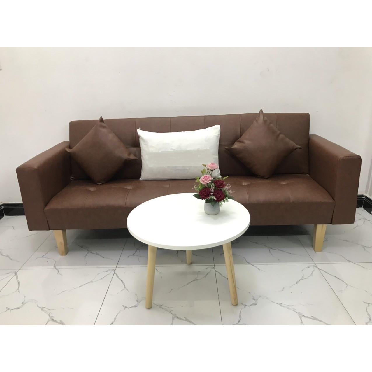 Bộ ghế sofa giường sofa bed tay vịn phòng khách salon linco8 sopha