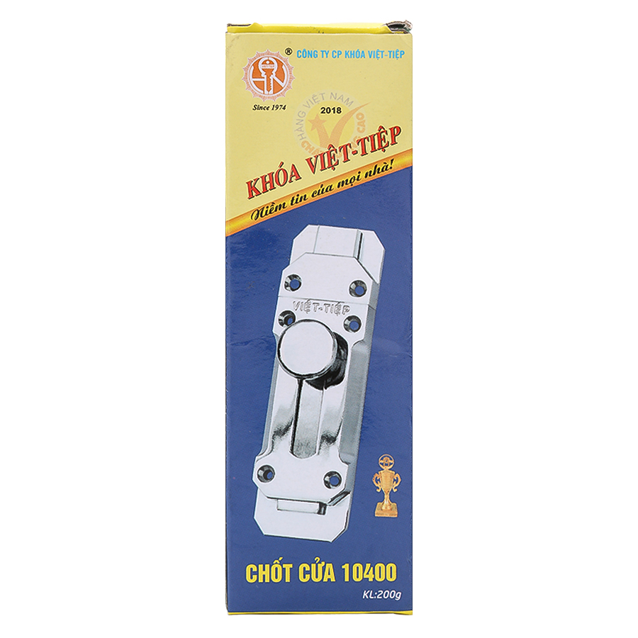 Chốt Cửa An Toàn Việt Tiệp 100% Inox Không Gỉ 140 x 40mm