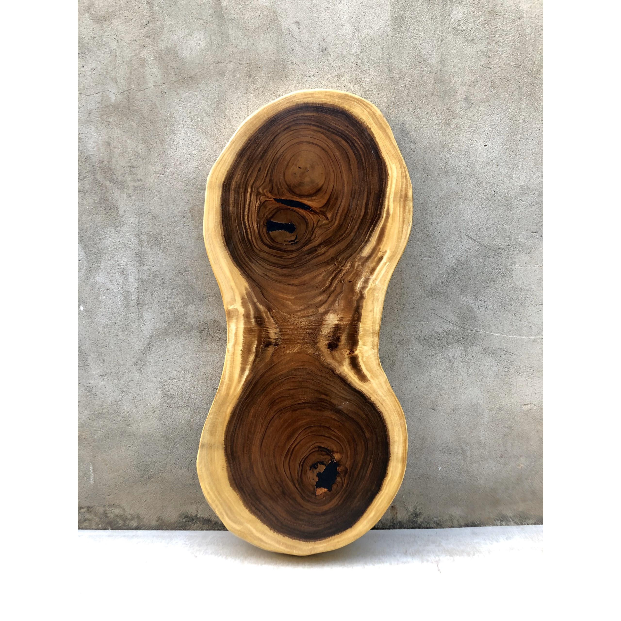 Mặt bàn Sofa gỗ Me Tây nguyên khối Dài 120 rộng 52 - 38 - 51 dày 6.5 (cm)