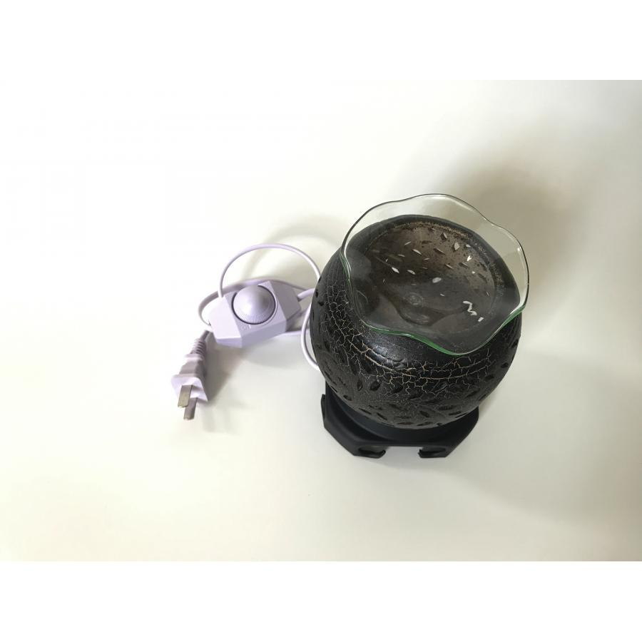 Đèn xông tinh dầu gốm đen nhỏ