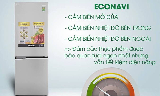 Tủ lạnh Panasonic 322 lít NR-BV369QSV2 có cảm biến Econavi