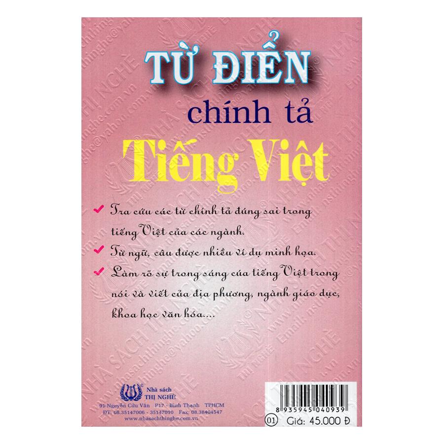 Từ Điển Chính Tả Tiếng Việt (Tái Bản Lần V)