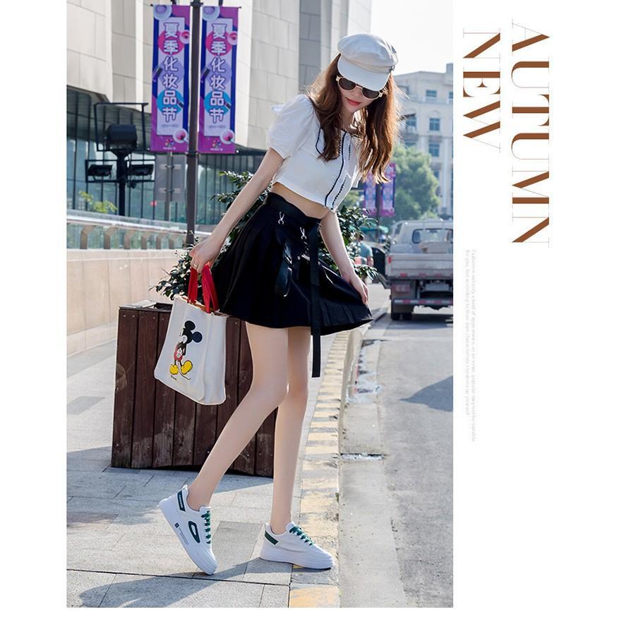 Giày sneakers nữ thể thao màu trắng cao cấp phong cách Hàn Quốc