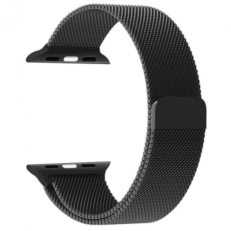 Dây đeo thay thế dành cho đồng hồ Apple Watch lưới thép không gỉ Mloop
