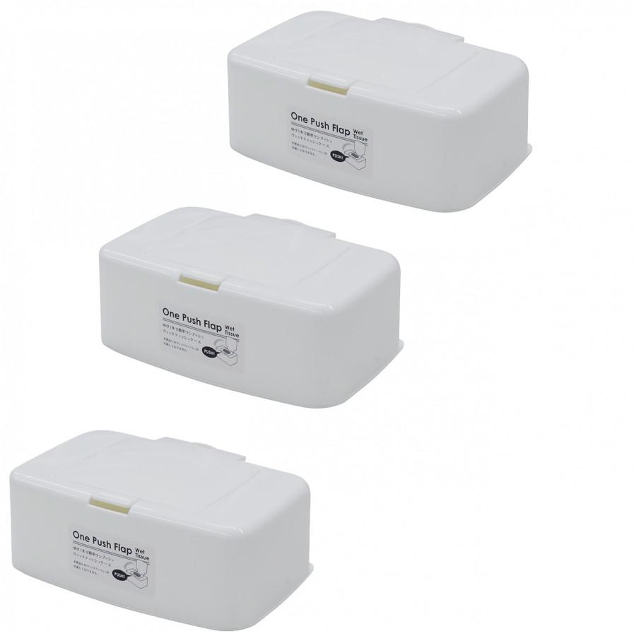 Combo 3 Hộp đựng giấy ướt có nắp bật nội địa Nhật Bản