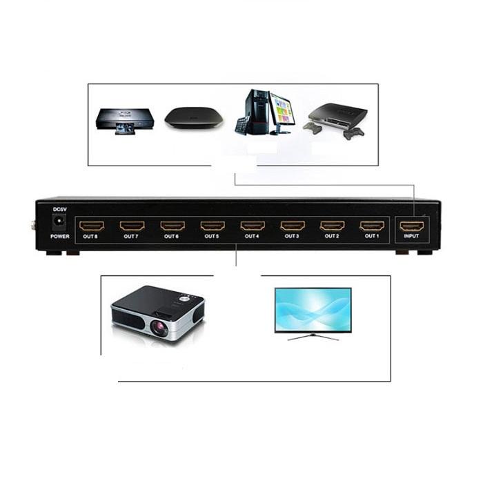 Bộ chia HDMI 1 ra 8 MT-SP108M hàng nhập khẩu