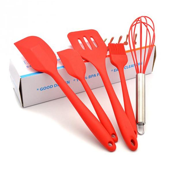 Bộ 5 dụng cụ làm bánh màu đỏ