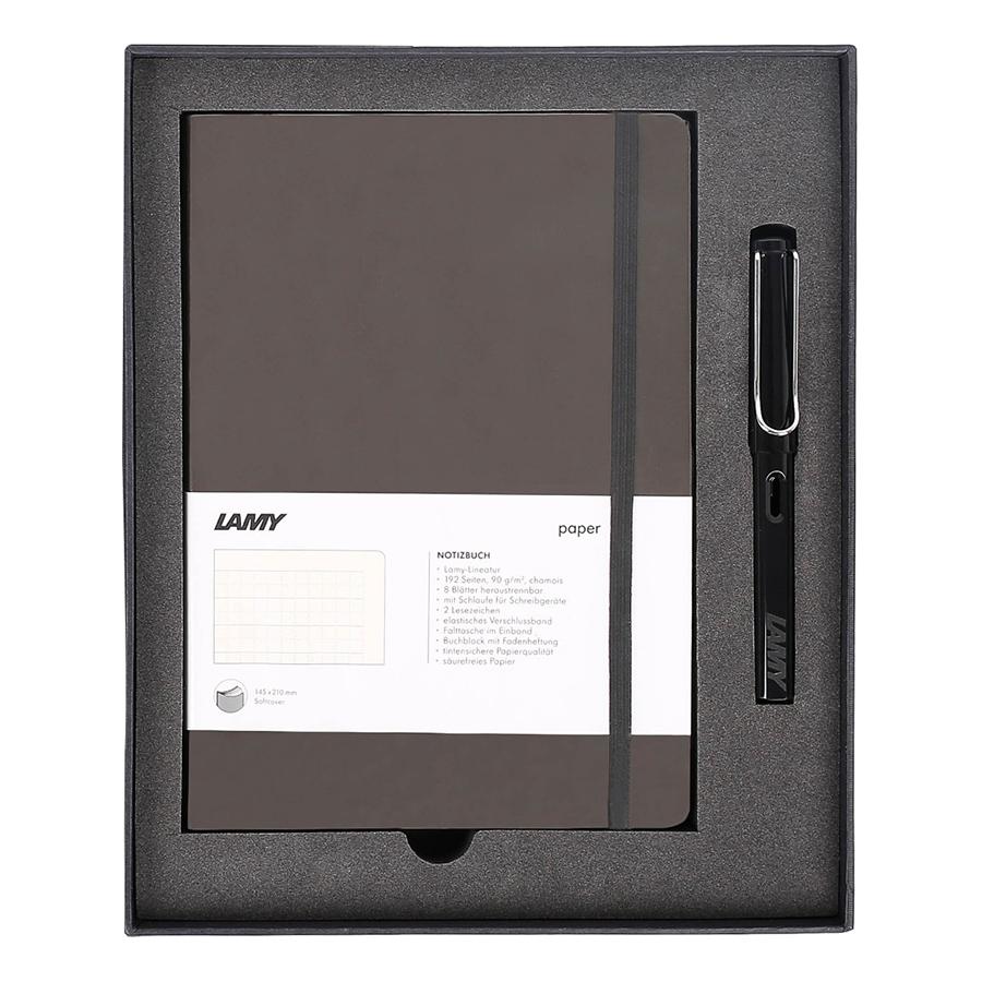Lamy Notebook A5 Softcover Umbra + Lamy Safari Shiny Black - GSNSa0020