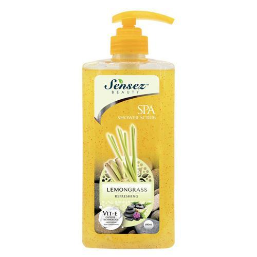 Sữa tắm Sensez Beauty Dưỡng Ẩm Hương Lemongrass có hạt massage, 680ml