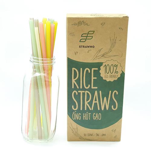 Ống hút gạo Rice Straws loại nhiều màu