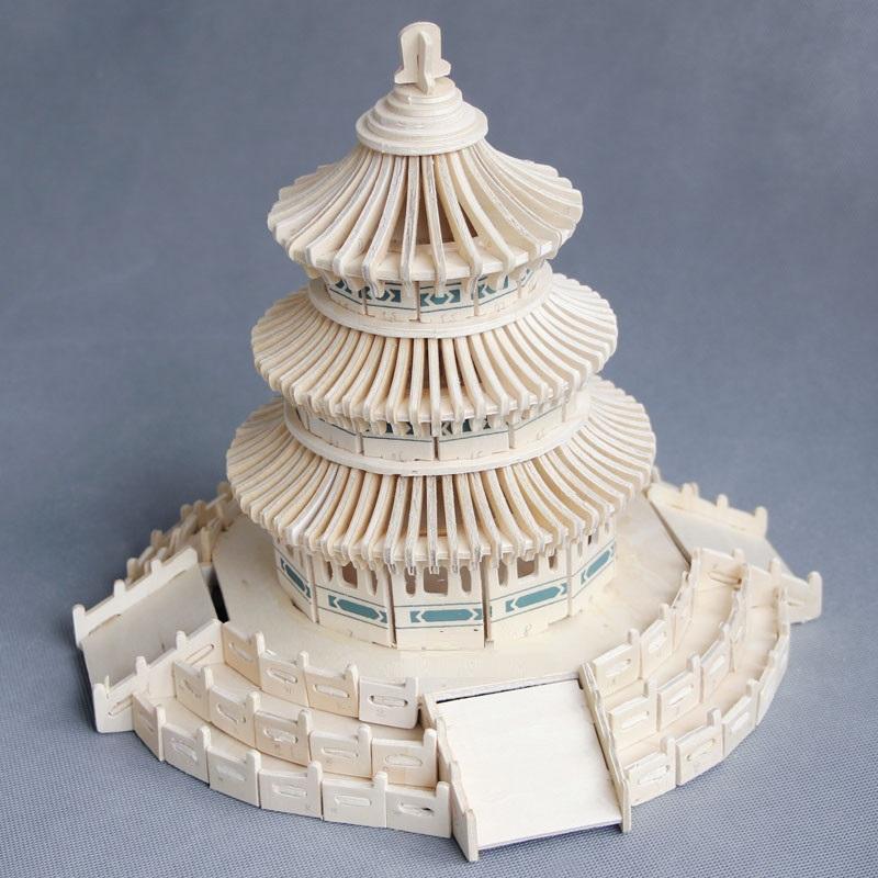 Đồ chơi lắp ráp gỗ 3D Mô hình Tháp Thiên Đường G-J043