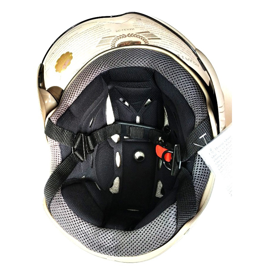 Mũ bảo hiểm nửa đầu có kính GRS A760K size lớn - màu xám nhám