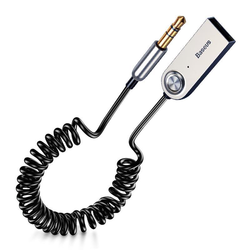 Dây cáp âm thanh USB Blueooth kết nối qua jack 3.5mm phát bluetooth cho loa thường loa xe hơi ô tô Baseus BA01  -  hàng chính hãng