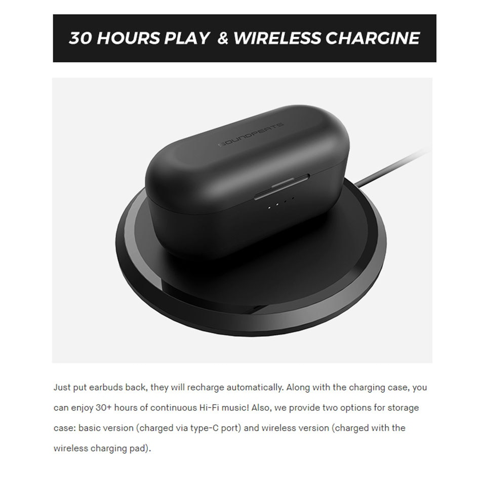 Tai Nghe True Wireless SOUNDPEATS TRUENGINE 2 Dual Dynamic Drivers & Crossover - Hỗ Trợ Sạc Không Dây - Hàng Chính Hãng