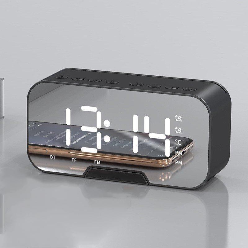 Loa bluetooth kiêm đồng hồ báo thức G10 màn hình tráng gương, màn hình kĩ thuật số, hiển thị đèn led nghe nhạc hay, hỗ trợ, USB, thẻ nhớ, đài fm radio, nhiều màu sắc - Hàng chính hãng