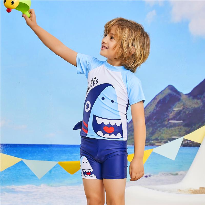Đồ bơi bé trai size lớn (kèm nón bơi) -TK2272