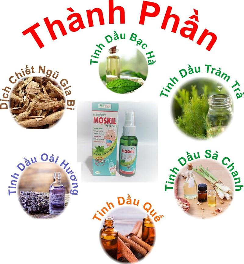 [BỘ SẢN PHẨM] Xịt thơm khử mùi XITNANO giúp da khô khoáng sạch sẽ- lọ 30ml& Tinh Dầu Xịt Muỗi Thảo Mộc MOSKIL với các tinh dầu thiên nhiên an toàn cho bé lọ 50ml, hàng chính hãng