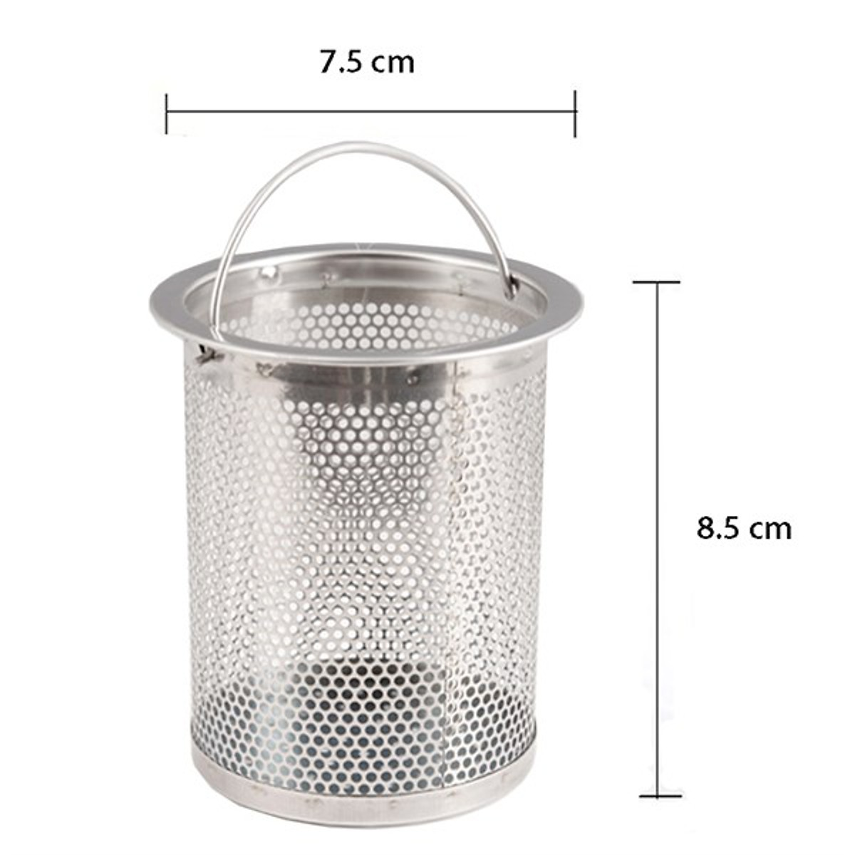 Bộ lọc rác bồn rửa chén inox dễ dàng thay thế cho gia đình