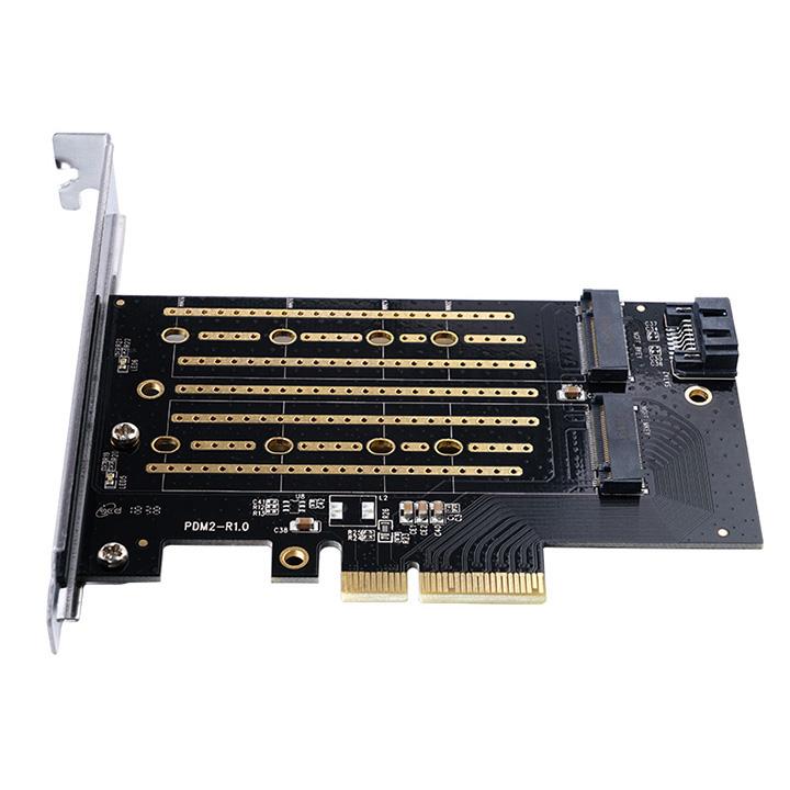 Adaper gắn SSD M.2 NVMe và SATA cho máy tính bàn Orico PDM2