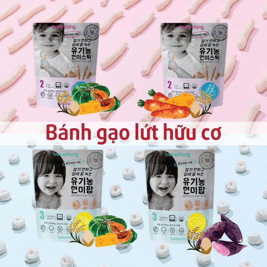 Bánh Ăn Dặm Gạo Lứt Phô Mai Bebedang Cho Bé Nhập Khẩu Hàn Quốc
