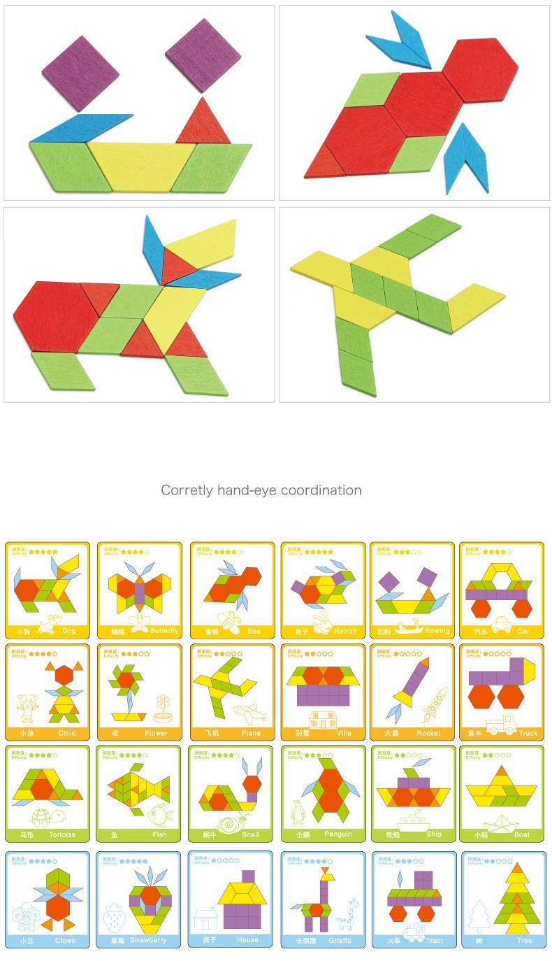 Đồ chơi gỗ Bộ 130 chi tiết xếp hình sáng tạo