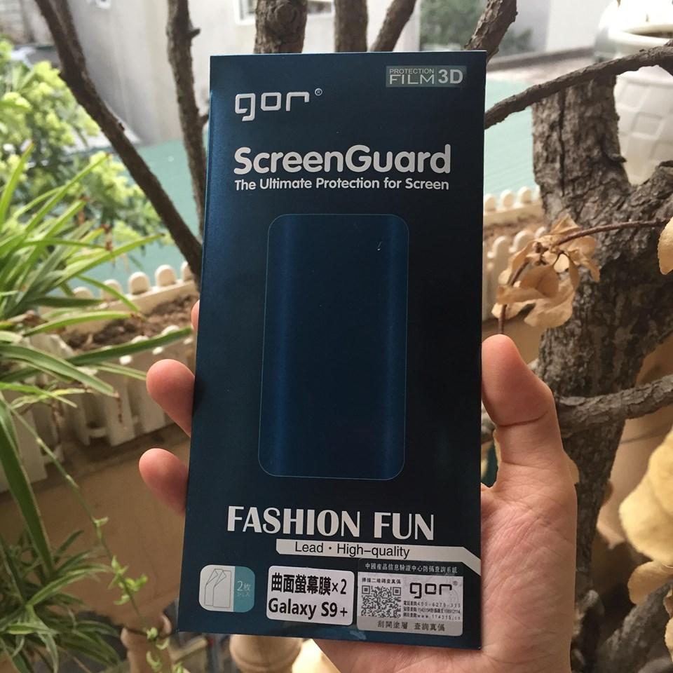 Dán màn hình Samsung Galaxy S9 Plus 3D full GOR (hộp 3 miếng) - Hàng chính hãng