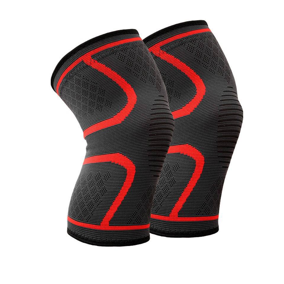 Đai gối đàn hồi bảo vệ đầu gối khi chơi thể thao Aolikes AL7718 (1 đôi) - Đỏ - M