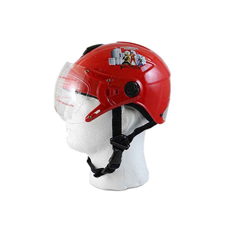 Mũ bảo hiểm nửa đầu có kính hình siêu nhân cho bé yêu