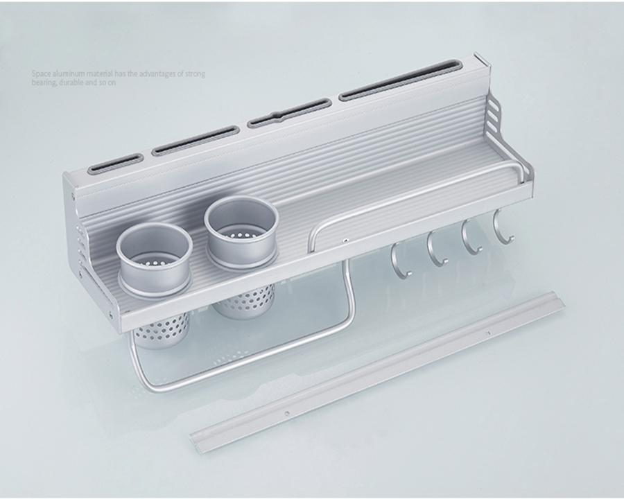Kệ bếp đa năng Yijia dán tường nhôm đúc 2 cốc - giá để đồ nhà bếp