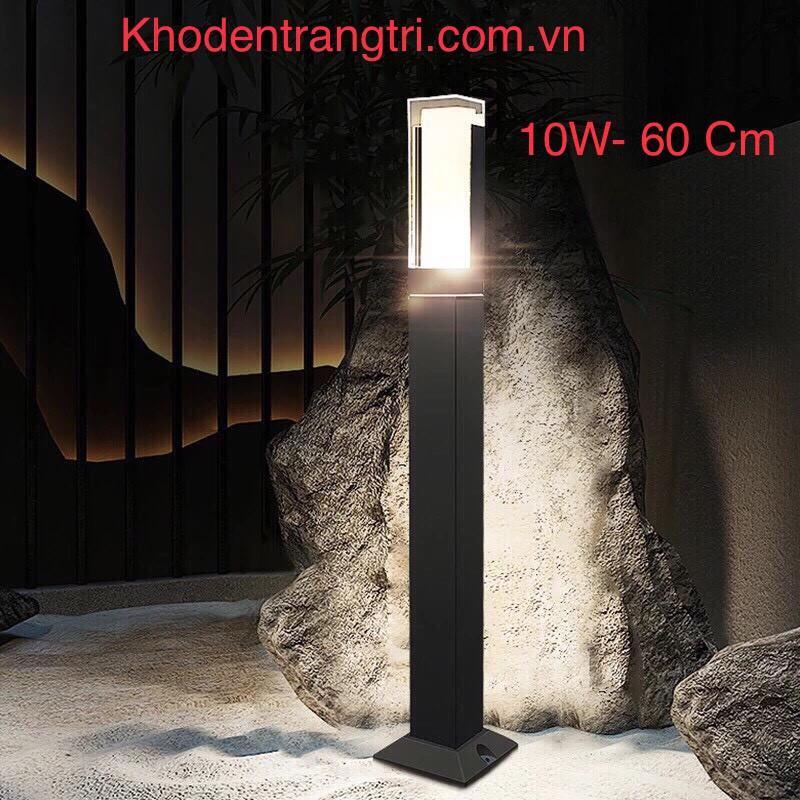 Đèn sân vườn - dẫn lối - Mắt Việt 60cm, MV-GR10360V, Vỏ đen. AS: Vàng. Điện: 90-265V.