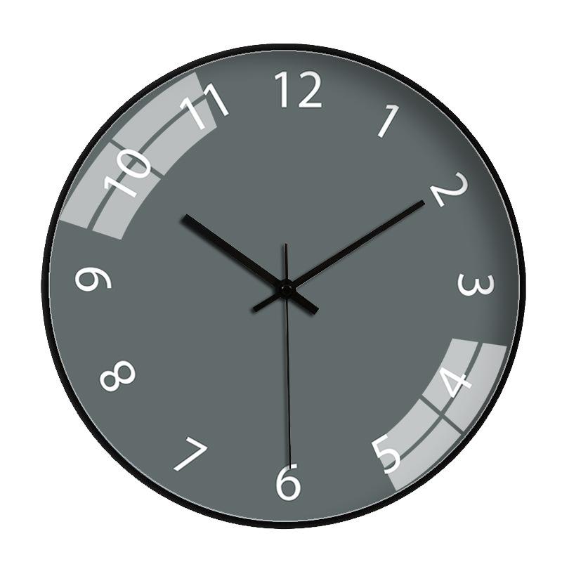 Đồng hồ treo tường tròn basic nền xám số trắng 30cm