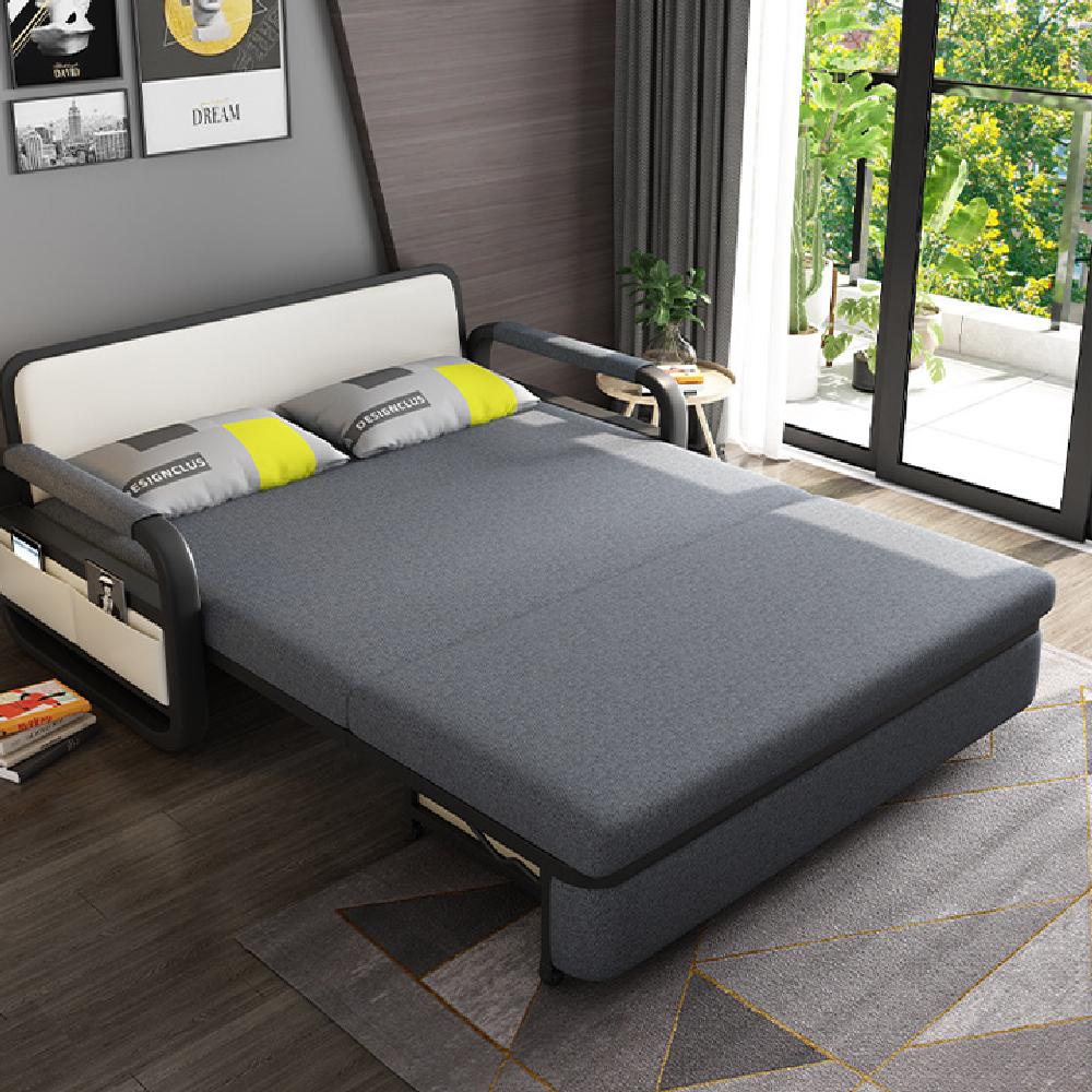 Giường sofa gấp gọn thành ghế tiện lợi K15 1m50 x 1m93 loại mousse bọt biển mật độ cao + 2 gối êm ái , giao màu ngẫu nhiên