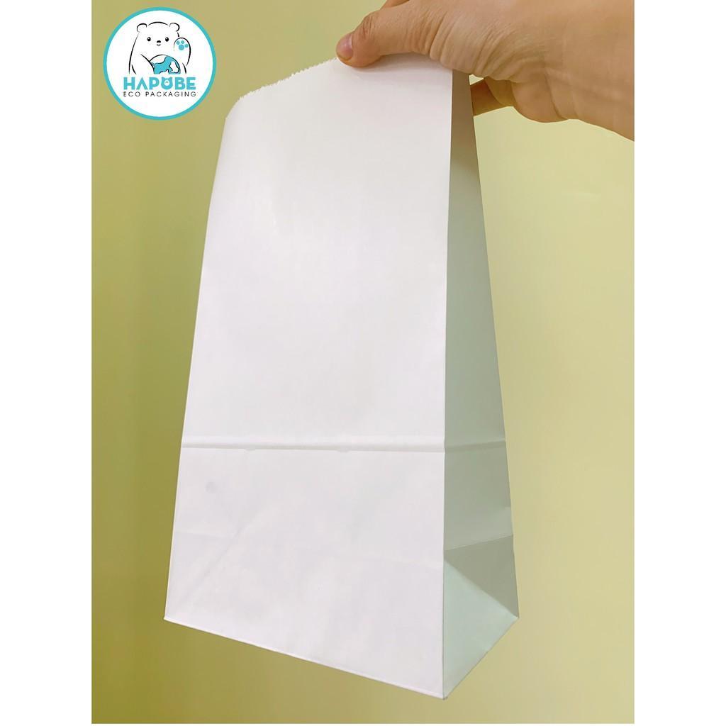 100 Túi giấy kraft nhật không quai màu trắng M2.5 KT80 15,5x9x28cm