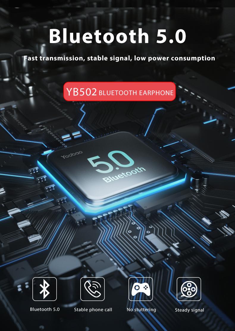 Tai nghe bluetooth True Wireless Yoobao 502 - Hàng chính hãng
