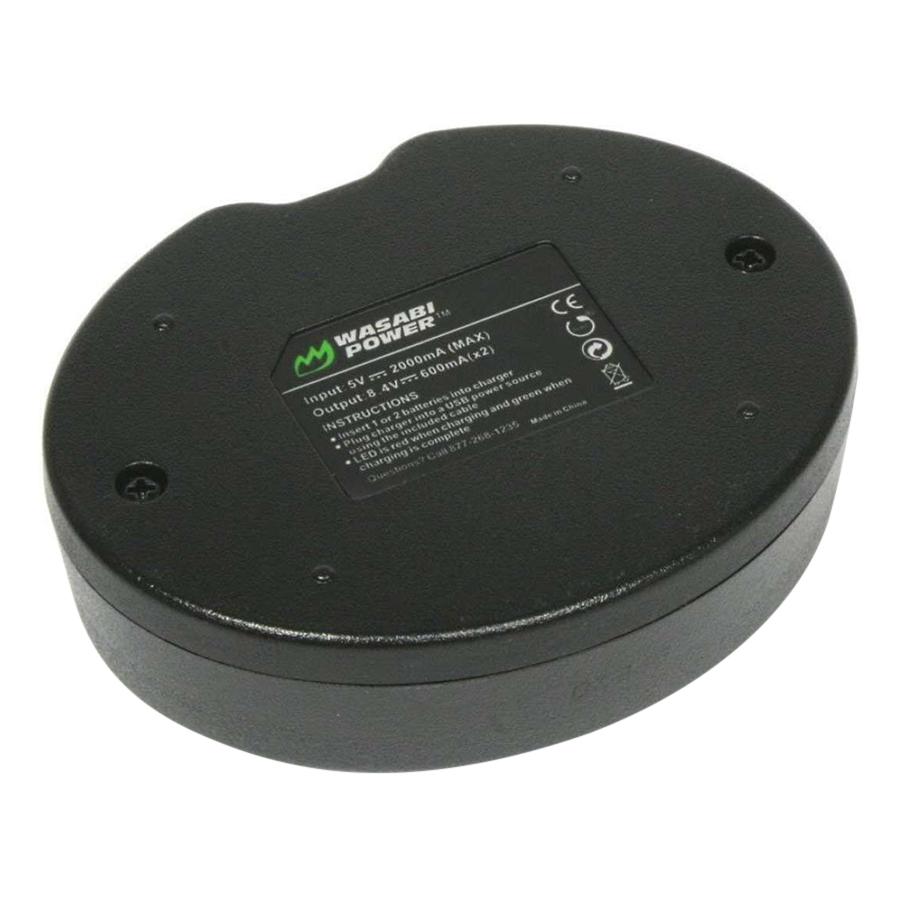 Bộ 2 Viên Pin Và Sạc Wasabi NP-W126 Cho Fujifilm X-E1 X-A2 X-M1 X-T1 (Đen) -  Hàng Nhập Khẩu