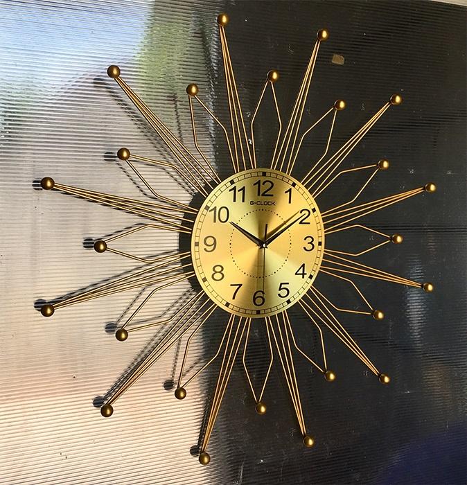 Đồng hồ treo tường G-CLOCK loại 74 (cm) làm từ kim loại sơn tĩnh điện chạy máy kim trôi chuẩn cao cấp (2014)